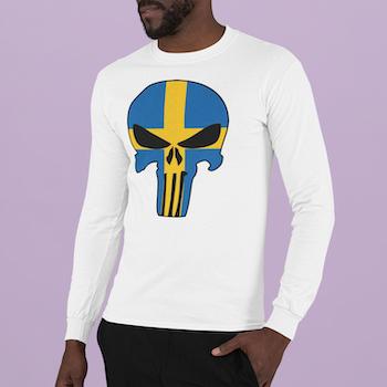 Swedish Skull Long Sleeve Herr