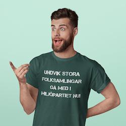 Miljöpartiet T-Shirt Herr