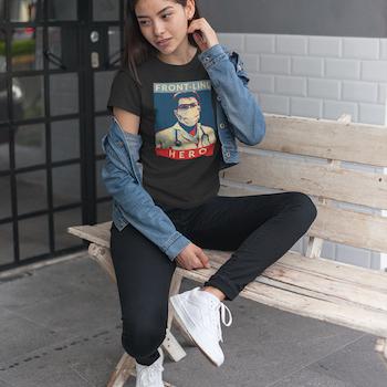Front Line Hero II  T-Shirt Dam