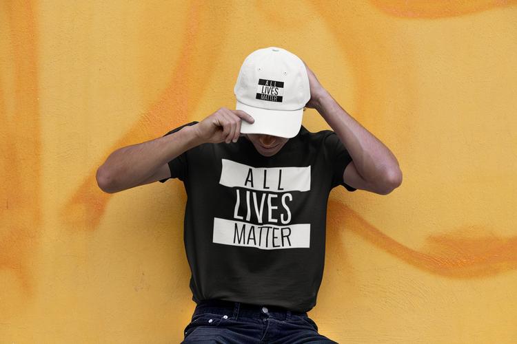 All Lives Matter Tshirt Men/Herr. Cool Tshirt med tryck. Make Your Statement om allas lika värde