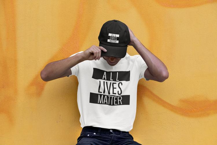 Cool Tshirt med Tryck All Lives Matter. Flera färger & stort antal storlekar. Allas likas värde innebär All Lives Matter