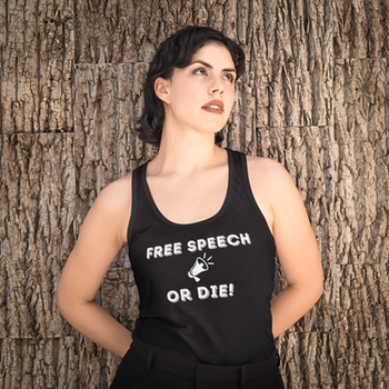 Free Speech Or Die Tank Top Dam