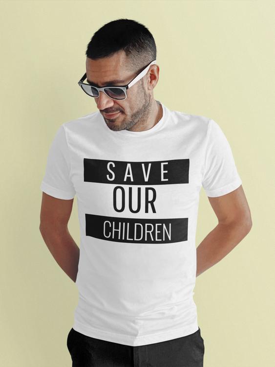 T-Shirt i årets alla färger. Tröjor med tryck från Statements Clothing. Save Our Children