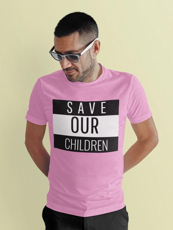 Save Our Children Tischa Herr. Tshirt i många olika färger med tryck text Save Our Children