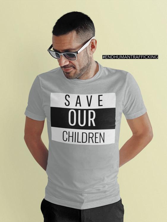 Save Our Children Tshirt Herr modell