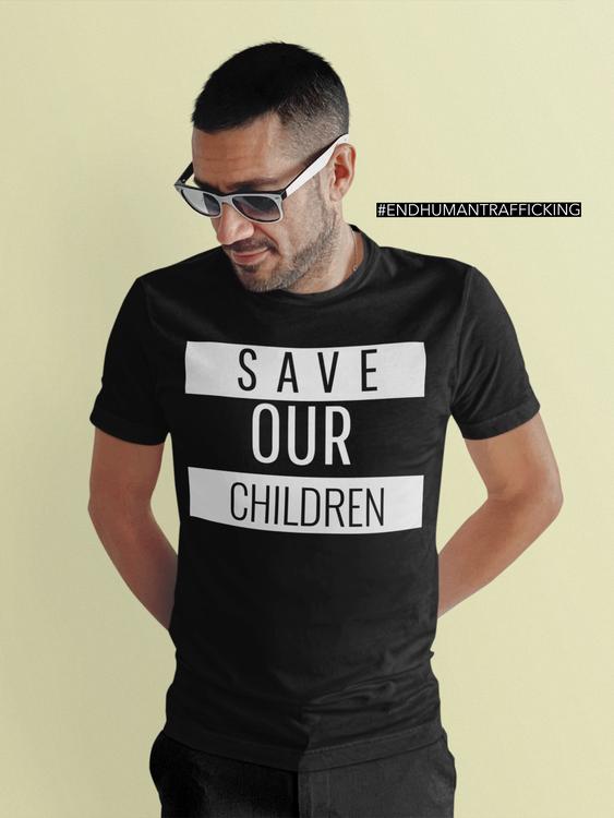 #saveourchildren #endhumantrafficking Tshirt Herr. Tshirt med tryck.