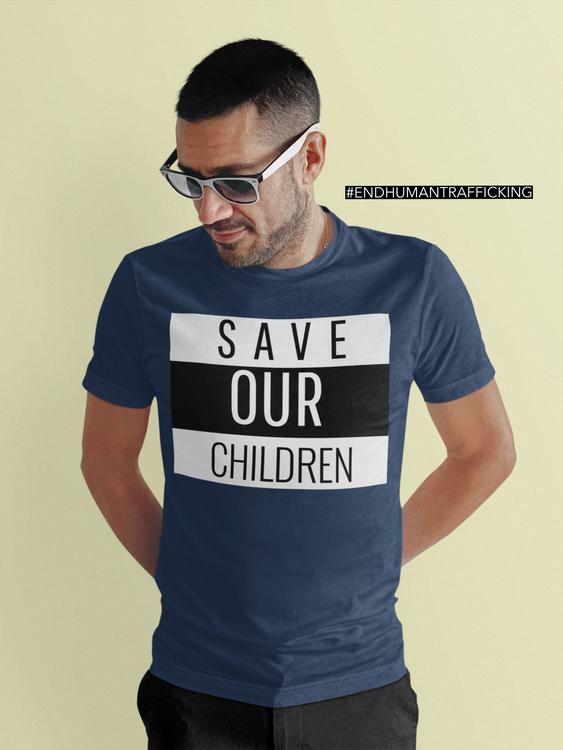 Save Our Children Tshirt. Tshirt Herr. Tshirt med tryck för män
