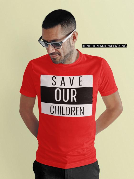 Tshirt i olika kulörer. Härliga pastell färger. Trycks med Oeko-Tex för din & miljöns skull. Save Our Children Tshirt Herr