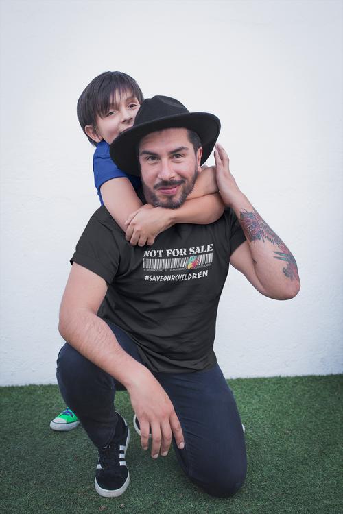 T-Shirt Herr Not For Sale Stop Human Trafficking. Herr TShirt med tryck