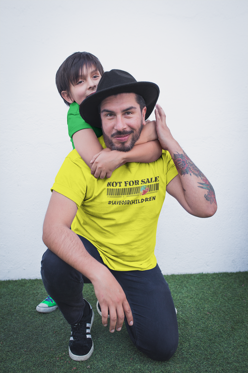 Herr Tshirt Not For Sale Stop Human Trafficking. Herr T-Shirt med tryck. Save Our Children