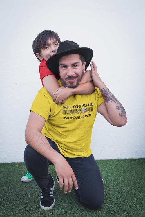 End Human Trafficking T-Shirt. Save Our Children Herr T-Shirt