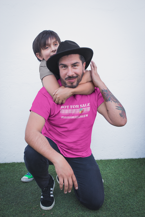 Not For Sale, Save Our Children. Herr Tshirt med tryck