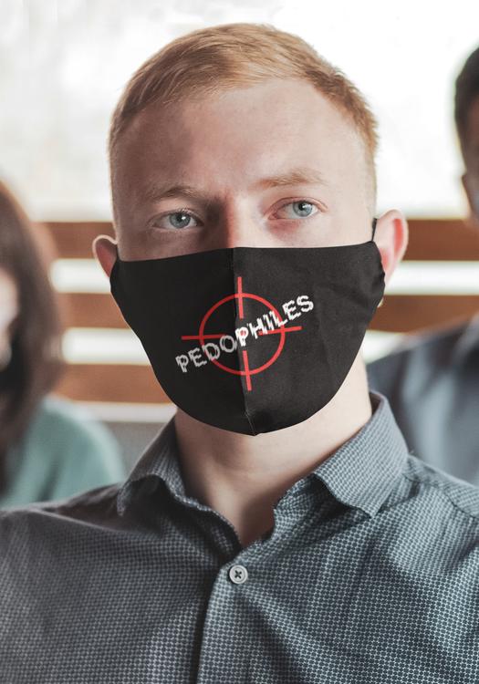 FaceMask Unisex Kill All Pedophiles . Kill Your Local Pedophile Ansiktsmask