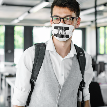 All Lives Matter Face Mask Onesize