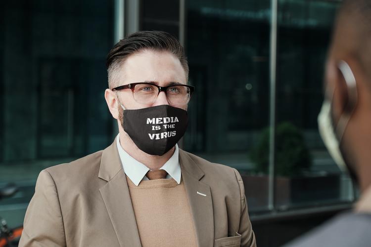 Media Is The Virus Face Mask Onesize