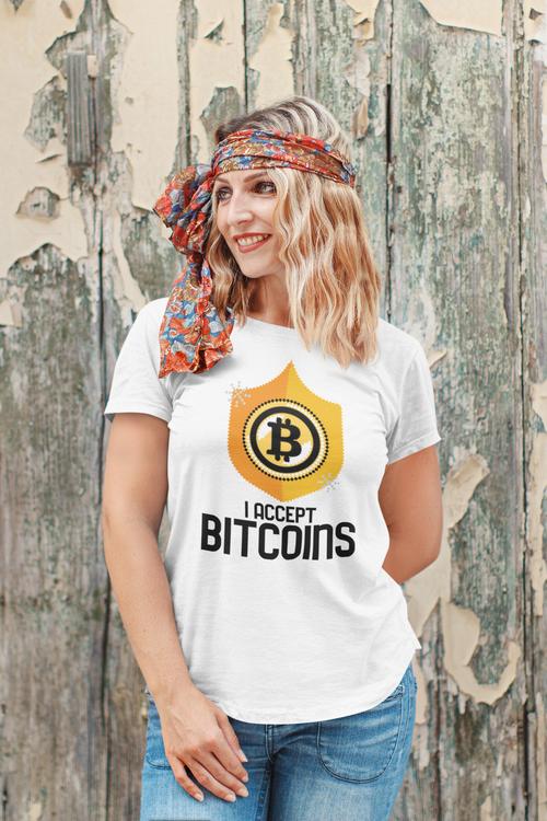 I Accept Bitcoins T-Shirt Dam
