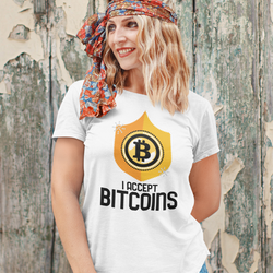 I Accept Bitcoins T-Shirt Dam