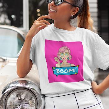 Retro Boom T-Shirt Dam