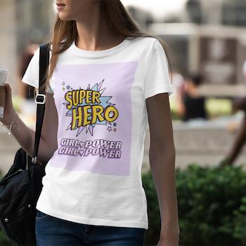 Girl Power Retro T-Shirt Dam