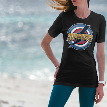 Super Hero Retro T-Shirt Dam