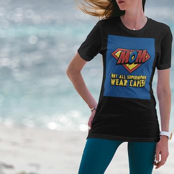 Mom - Super Hero T-Shirt Dam