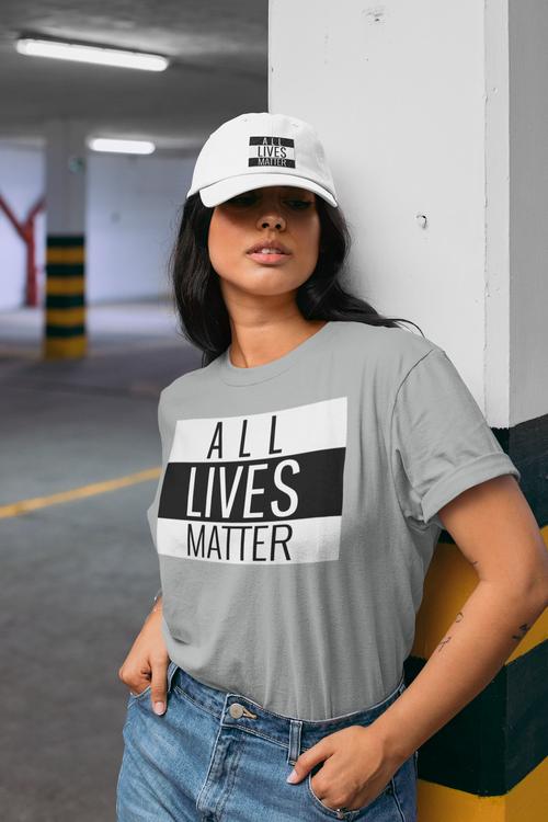 T-Shirt Dam All Lives Matter. Flera färger & storlekar