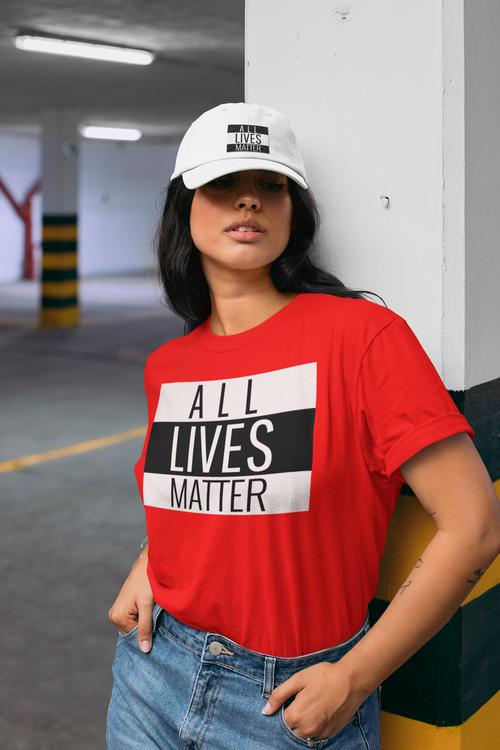 Tshirt Women All Lives Matter