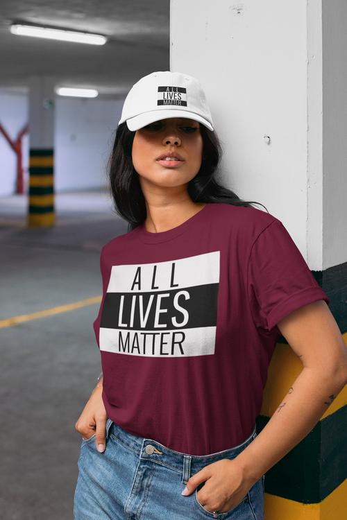 All Lives Matter. Dam Tshirt. Allas lika värde