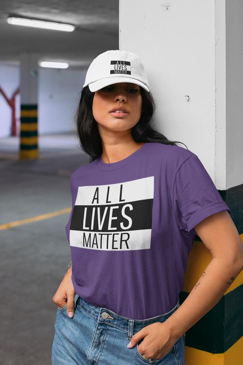 Tshirt med tryckt text All Lives Matter