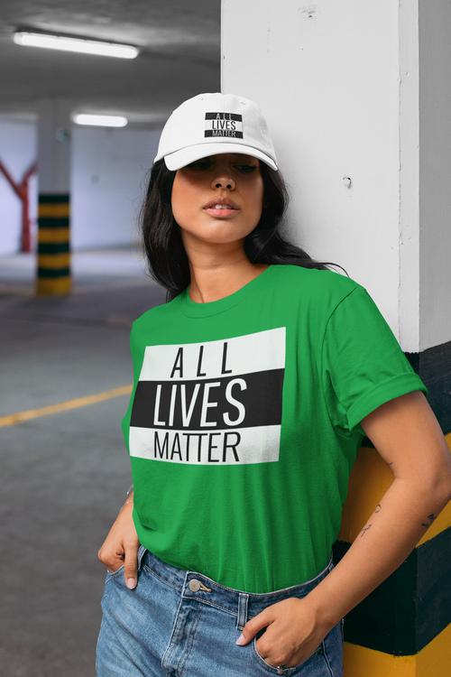 T-Shirt i flera fäger med text All Lives Matter. Dam Tshirt i flera färger & storlekar