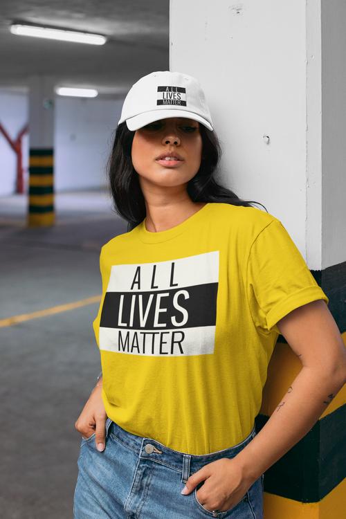 T-Shirt i flera fäger. Damstorlekar. Lady Fit. All Lives Matter