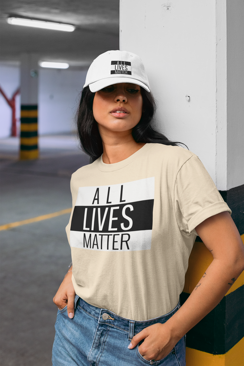 T-Shirt Dam med tryck All Lives Matter
