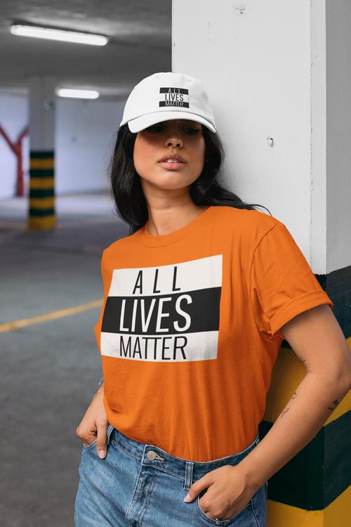 Tshirt All Lives Matter Dam. I stort antal kulörer & storlekar