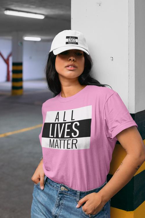 Rosa Färgar Tshirt All Lives Matter