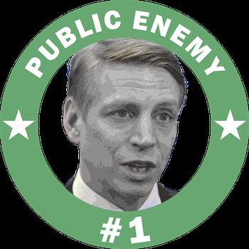 Bolund Public Enemy #1 T-Shirt  Dam