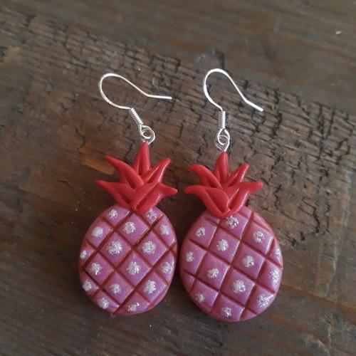 Örhängen- Rosa ananas