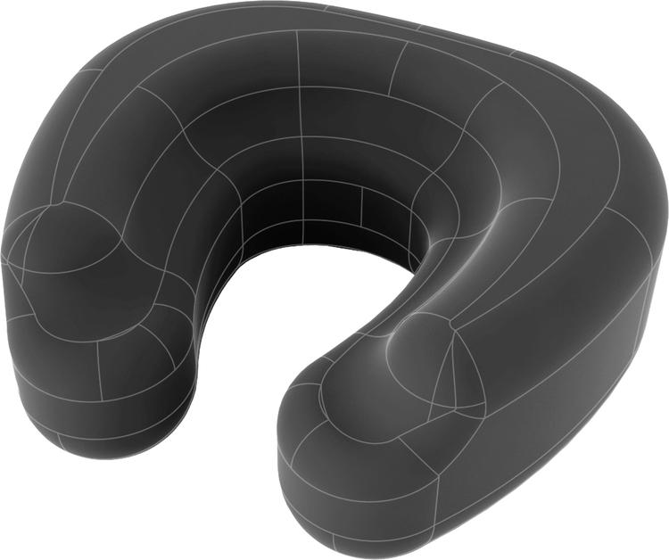 Daydream MemoryFoam Design Neck Pillow Black