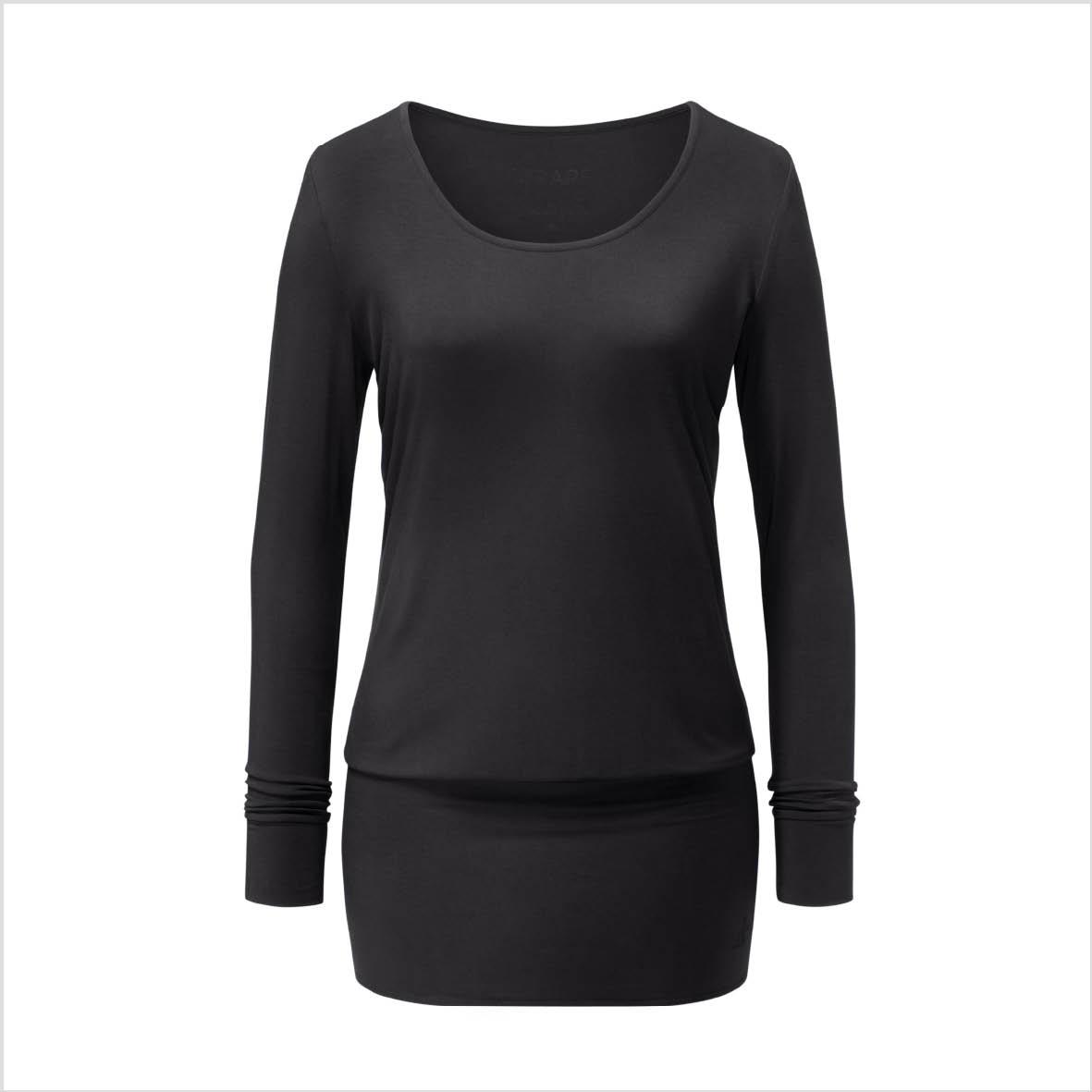 Yogatopp Flow Dress Shirt från Curare Yogawear- Black