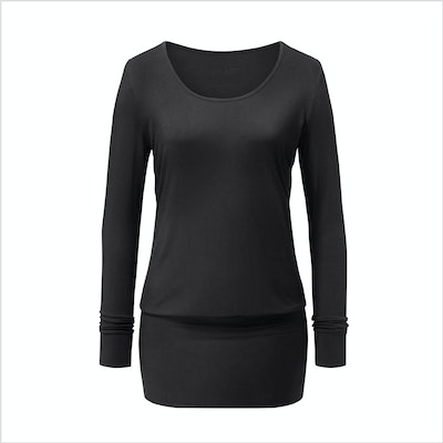 Yogatopp Flow Dress Shirt från Curare Yogawear- Black