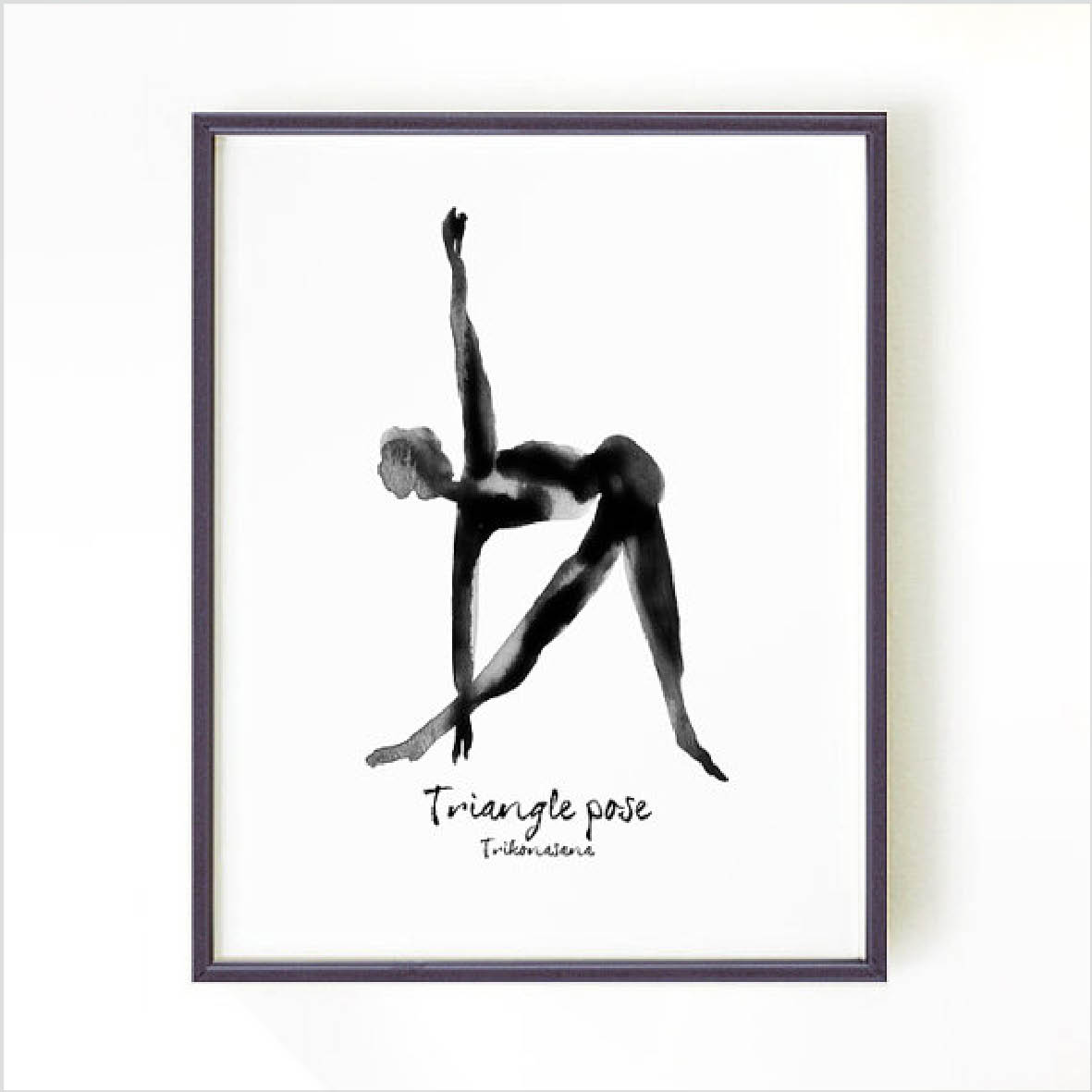 Yoga Print - Triangle Pose