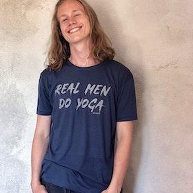 "Yogia tröja ""REAL MEN DO YOGA"" - till killar"
