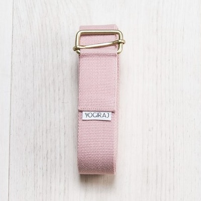 Yoga bälte Heather pink från YogiRaj
