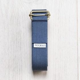 Yoga bälte Långt Blueberry blue från YogiRaj