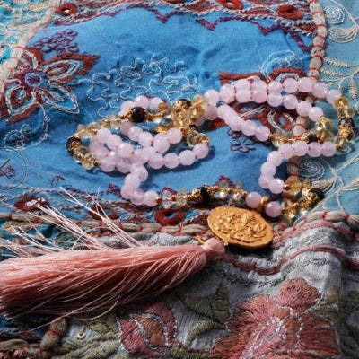 "Mala halsband ""Divine Guidance"" Gold Vermeil från Ananda Soul"