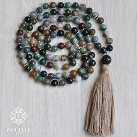 Mala halsband Indian Agate från Nouelle