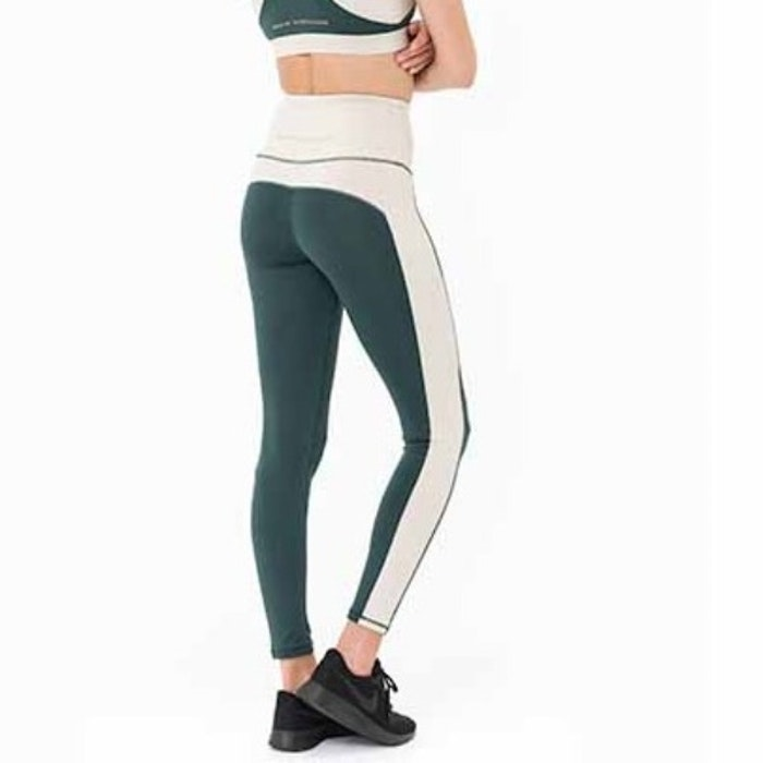 Yogaleggings Emma från DOM - Racing Green & Creme