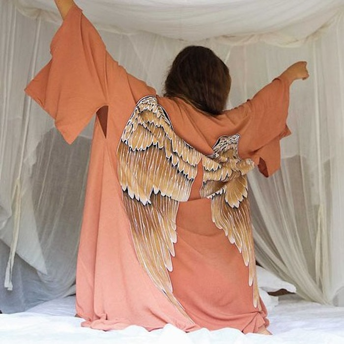 "Everyday kimono ""Desert orange Caramel wings"" - Warriors of the divine"