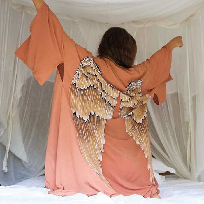 "Everyday kimono ""Desert orange Caramel wings"" - Warriors of the divine"