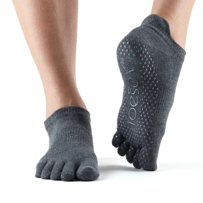 Yogastrumpor Fulltoe Low Rise Grip Charcoal grey - ToeSox