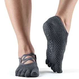 Yogastrumpor Toesox Fulltoe Elle - Charcoal Grey
